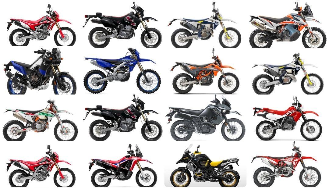Внедорожные мотоциклы: классификация и особенности